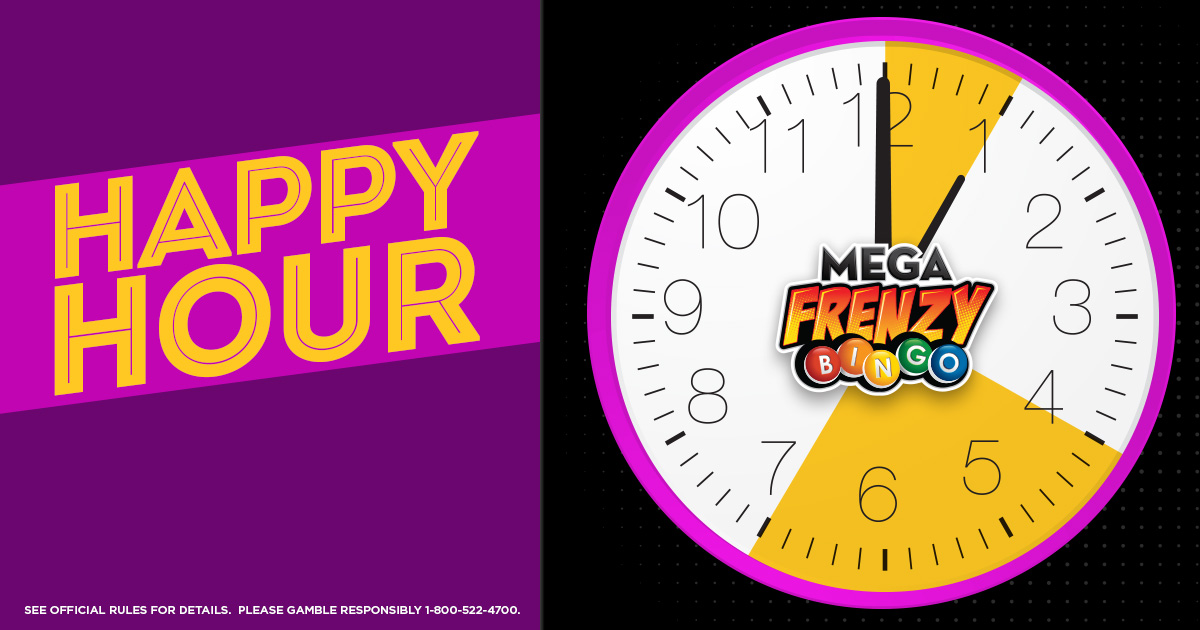 Mega Frenzy Bingo Happy Hour